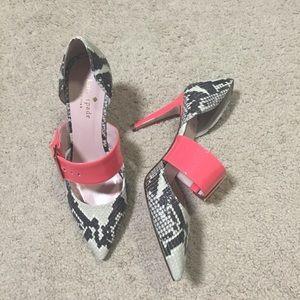KATE SPADE: snakeskin Mary Jane heels