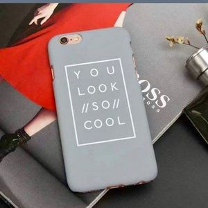 'You Look So Cool' iPhone 7 Case in Gray