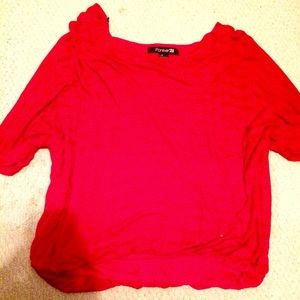 red forever 21 shirt