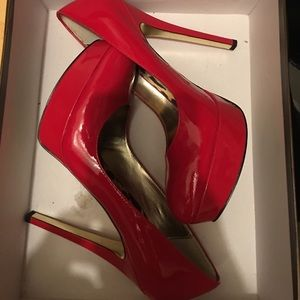 Bebe Bailey Red Pumps