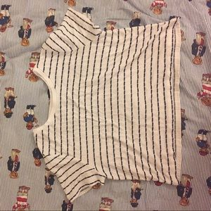 FOREVER 21 CROP TOP STRIPED