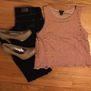 FOREVER XXI: Lace Tank