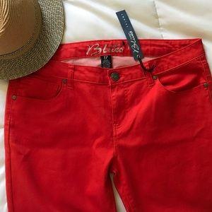 Pants - Orange Red Lightweight Jean Pant!
