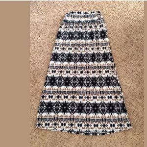 Maurice's tie Dye print maxi skirt 0X