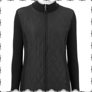Croft & Barrow Quilted Sweater Jacket