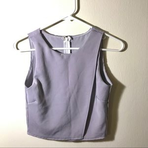 Pastel Lavender Crop Top