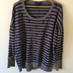Lane BRYANT striped dotted sweater top 2X