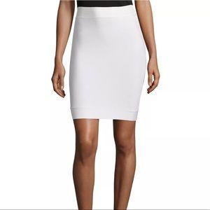 BCBG Maxazria Cathy Mini White Skirt