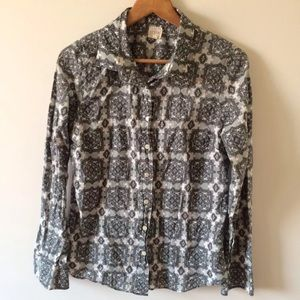 J.crew paisley button front top medium