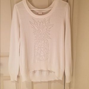 WHITE BILLABONG SWEATER WITH PINEAPPLE DESIGN