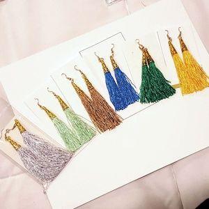 """Cone Tassel Earrings (Approx 3.3"""" Long)"""