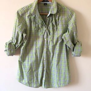 Gap plaid button front top 10