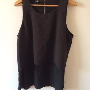 Alfani black dotted tiered blouse top 16