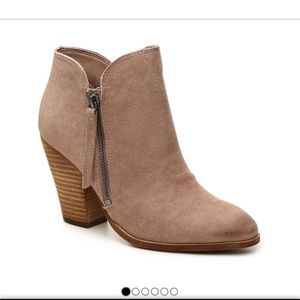 Dolce Vita suede tan booties