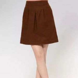 NEW Fossil-Brown Pleated Skirt-w/pockets Size L