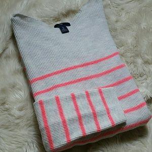 GAP Boatneck Striped Knit Longsleeve Sweater Large