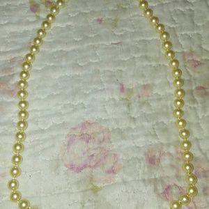 """Monet Faux Pearl Necklace 24"""""""
