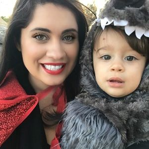 Red riding hood cape and big bad wolf costume