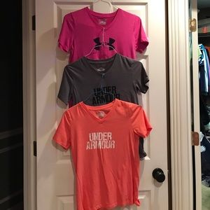 Three Under Armour t shirts. Sold as bundle of 3