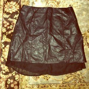 NEW Silence + Noise Vegan Leather Mini Skirt