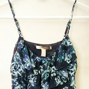 Forever 21 Blue Floral Tank Top