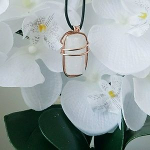 Selenite Energy cleansing necklace
