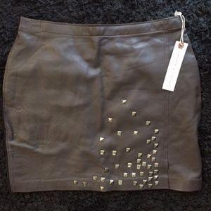 NEW Graham & Spencer Leather Stud Mini Skirt Small