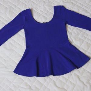 Express- Fitted Peplum Shirt