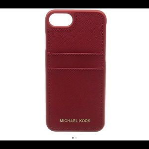 🌹Michael kors red snap on iPhone 7 case🌹