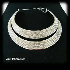 Double Silver Necklace