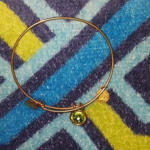 Alex and Ani August Birthstone gold bracelet