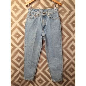 Vintage Levi's High Waisted 512 Light Wash Jeans!
