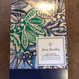 Vera Bradley Matchbook Notebook and Pencil
