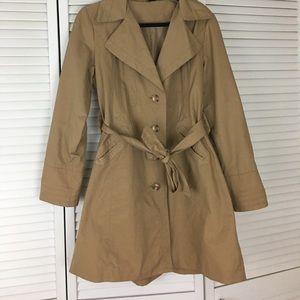 NWOT Macy's Camel Trench Coat