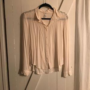 Ivory western style blouse