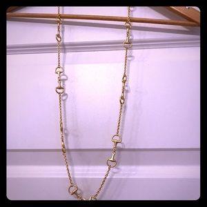 Gucci bridle bit long necklace