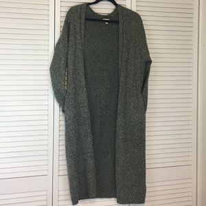 NWOT UO silence + noise Green LONG Cardigan