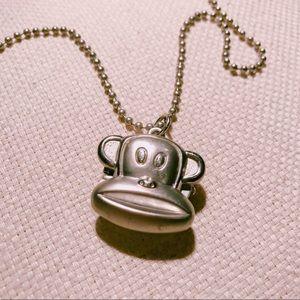 Monkey Design Pocket Watch Necklace
