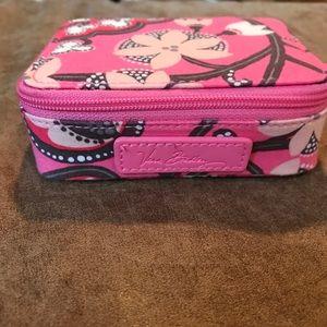 Vera Bradley Travel Pill Case in Blush Pink
