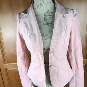 Abercrombie & Fitch blazer size large, velvet pink