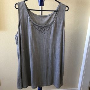 Eileen Fisher Beaded Top!  Sz 2XL!  Awesome!