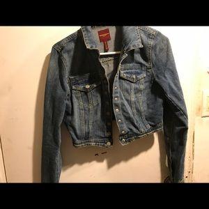 Half cut jean jacket