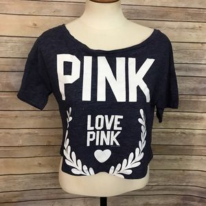 Victoria's Secret PINK cropped tee Size M