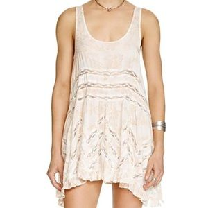 FREE PEOPLE Lace + Voile Trapeze Slip DRESS Small