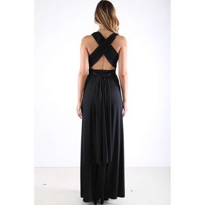 Small black Multiway maxi gown dress