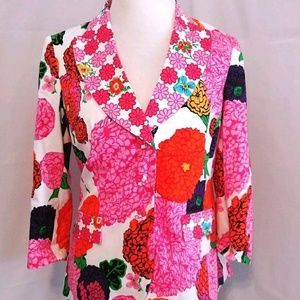 Per Se Blazer Jacket Womens Size 10 Floral