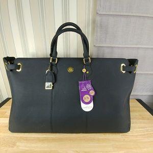 - Joy Mangano Christie Leather Weekender Bag