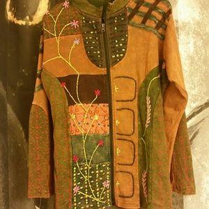 Handmade patchwork hippy jacket
