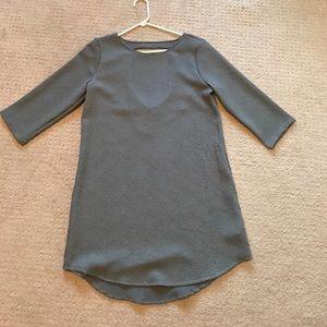 Gray three quarter length sleeve dress