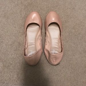 WORN ONCE Faded Glory light pink flats
